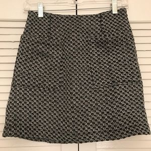 Who What Wear Black Tweed Skirt Pockets size 2